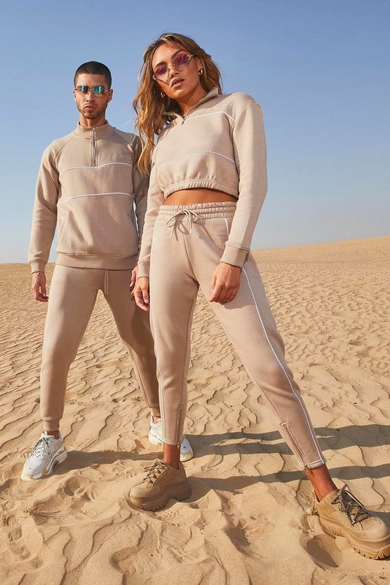 Her Half Zip Funnel Neck Crop Tracksuit