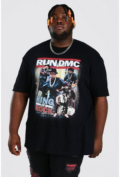 Plus Size Run Dmc License T-shirt, Black