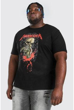 Black Plus Size Metallica License T-shirt