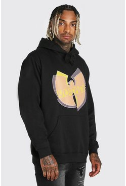Black Oversized Wu-Tang License Hoodie