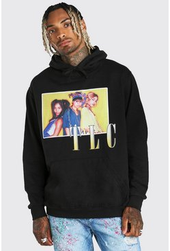 Black Oversized TLC License Hoodie