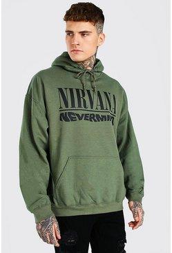 Green Oversized Nirvana Nevermind License Hoodie