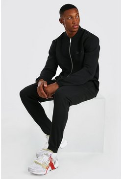 Black Heavyweight Scuba MAN Bomber Tracksuit