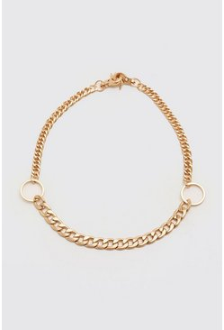 Gold Contrast O Ring Necklace