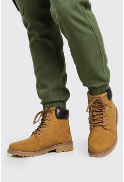 Tan Worker Boots
