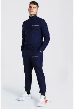 Navy Official MAN Shell Utility Tracksuit
