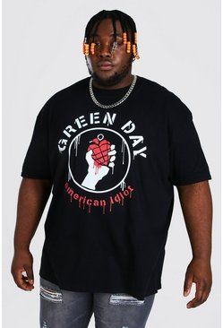 Black Plus Size Greenday License T-shirt