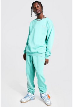 Turquoise Overdyed Loose Fit Miami Tracksuit
