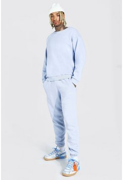 Stone Overdyed Marl Oversized MAN Sweater Tracksuit