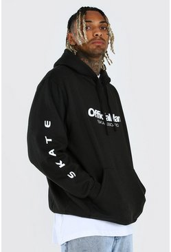 Black Official MAN Skateboard Oversized Hoodie