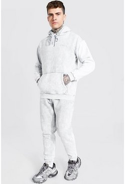 Light grey Heavyweight Enzyme Wash Tracksuit