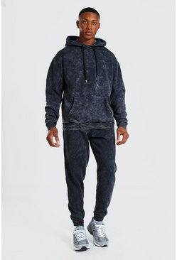 Charcoal MAN Heavyweight Enzyme Wash Tracksuit