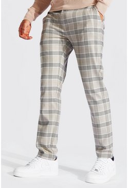 Stone Skinny Check Smart Pants