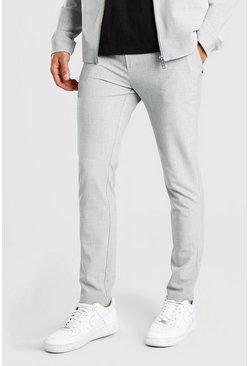 Pantalon habillé skinny uni, Light grey