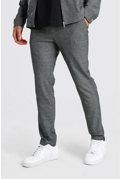 Charcoal Skinny Check Smart Two-Piece Pants