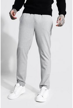 Light grey Skinny Smart Cropped Jogger With Turn Up