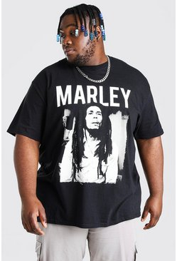Black Plus Size Bob Marley License T-Shirt