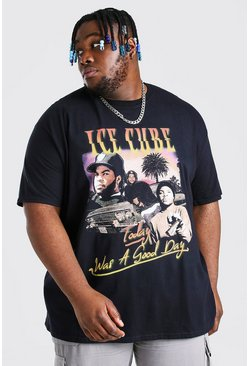Black Plus Size Ice Cube Homage License T-Shirt