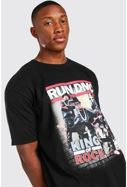 Black Oversized Run DMC License T-Shirt