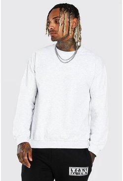 Ash Grey Marl Crew Neck Sweatshirt
