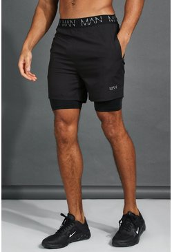 Short 2 en 1 - MAN, Black