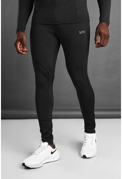 MAN Active Skinny Fit Jogger With Ankle Zips, Black