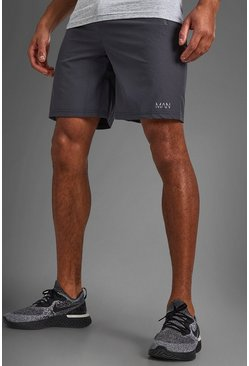Charcoal MAN Active Shorts With Zip Pockets