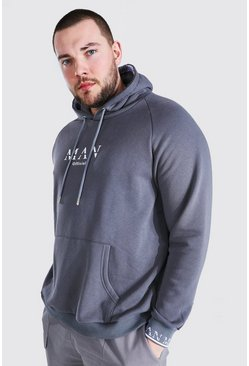 Graned taille - Sweat à capuche à manchettes - MAN, Dark grey