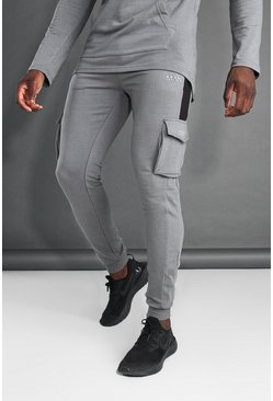 Charcoal MAN Active Cargo Jogger With Side Panel
