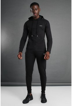 Black MAN Active OTH Hooded Tracksuit