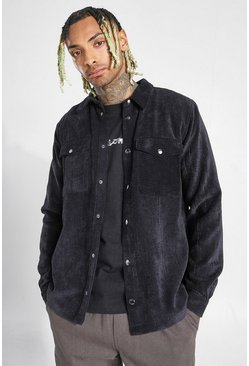 Black Corduroy Overshirt