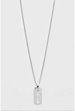 Silver Cross Pendant Chain