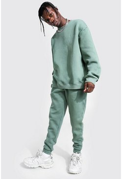 Sage Overdyed Official MAN Sweater Tracksuit