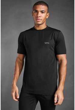 Black MAN Active Back Pocket Detail T-Shirt