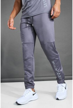 Charcoal MAN Active Seam Detail Tapered Fit Jogger