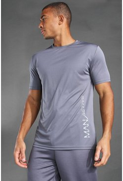T-shirt imprimé MAN, Charcoal