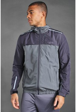 Charcoal MAN Active Colourblock Cagoule