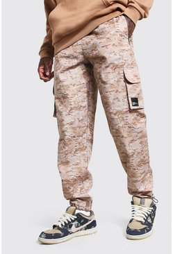 Sand Twill Loose Fit Cargo Trouser With MAN Tab
