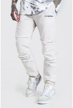 Stone MAN Official Belted Crinkle Shell Cargo Trouser