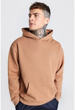 Brown Oversized Heavyweight Over The Head Hoodie