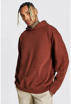 Chocolate Oversized Heavyweight Over The Head Hoodie