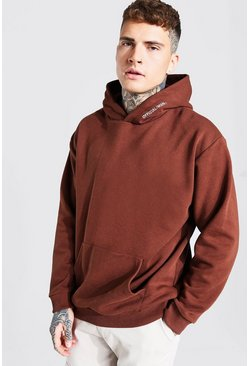 Oversized MAN Official Heavyweight Hoodie, Chocolate