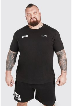 Black MAN Active X Beast Front And Back Print T-Shirt