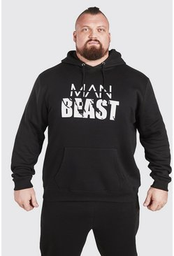 Sweat à capuche à enfiler - MAN Active X Beast, Black