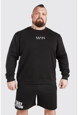Black MAN Active X Beast Sweatshirt With Print Detail