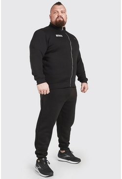 Black MAN Active X Beast Funnel Neck Tracksuit