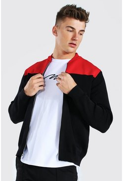 Bomber color block, Red