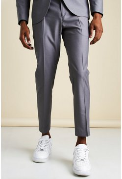 Blue MAN Skinny Cropped Suit Trouser
