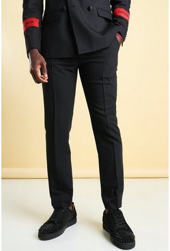 Official MAN Skinny Tape Suit Trouser, Black