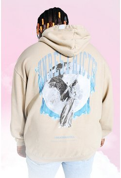Mushroom Plus Size Angel Overdye Loose Fit Hoodie